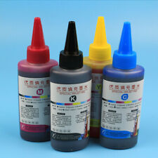 4X 100ml Universal Color Ink Cartridge Refill Kit for Canon Brother Printer