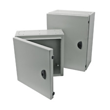 Steel Enclosure IP65 Light Grey Lockable 1200 x 800 x 300 Commercial Industrial