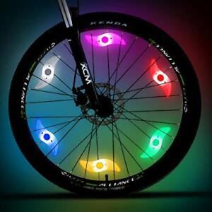 2 Pcs Bike Bicycle Cycling Wheel Spoke Wire Tyre Bright LED Flash 3 Mode Safety