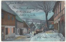 "Germany; ""Saxony In The Snow"" Inscription PPC, 1905, To Miss Caddy, Lymington"