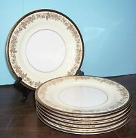 """LOT OF 7 NORITAKE BORDEAUX DINNER PLATES 10.5"""" NEVER USED FREE U S SHIPPING"""