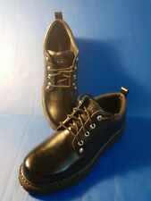New Skechers Mens Size 11 Cascades Black Leather Casual Ankle Work Boots SN-7111