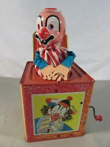 Vintage 1961 Matty Mattel Circus Clown Jack in the Box #659