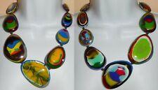 Sobral Kandinsky Gabriele Reversible Statement Large Bead Necklace Brazil Import