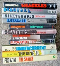 Eleven (11) NAMELESS DETECTIVE 1st Editions Hardcovers SIgned by BILL PRONZINI
