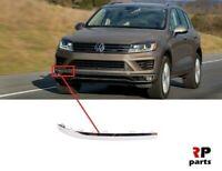 Pour VW Touareg 2014 - 2018 Neuf Avant Pare-Choc Chrome Moulure Bord Droit O/S