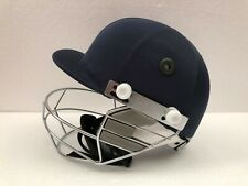 BLACK ASH PRO CRICKET BATTING HELMET ADJUSTABLE BLUE