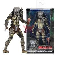 "NECA Predator Jungle Hunter Masked 7"" Action Figure 1:12 30th Anniversary Doll"