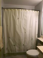 """Pottery Barn Kids 72"""" Shower Curtain with Hooks - embroidered insects and frogs"""