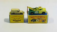 Matchbox Moko Lesney 14a Daimler Ambulance + 13d Dodge Wreck Truck 'BP'