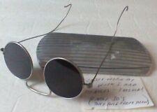 Vintage 1930s Round John Lennon Sun Glasses-With Original Silver Case-Provenance
