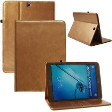 """Cover für Samsung Galaxy Tab S2 9,7"""" Leder Schutz Hülle Tasche Smart Case gold"""