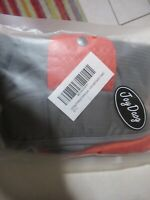 Joy Daog Outdoor Sport Waterproof Raincoat Dog Jacket Size Small Orange Gray