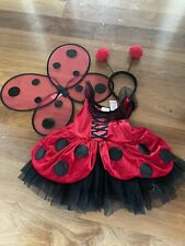 Dance Costume Red Lace Ladybug  Ballet Halloween Dress Up Size 3