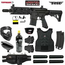 Maddog Tippmann Tmc Magfed Protective Co2 Paintball Gun Starter Package -Black