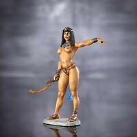 Elite gemalt Zinnfigur Mädchen nackte Prinzessin von Ägypten Cleopatra 75mm 1:24