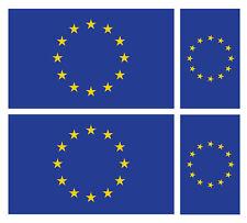 4 X EU EUROPEAN UNION FLAG VINYL CAR VAN IPAD LAPTOP STICKER