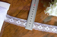 Nylon Floral Lace WHITE - 30mm wide 10 Metre Lengths