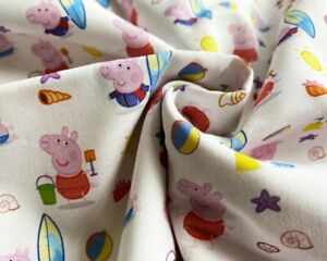 Peppa Beach Day Cotton – price by the Half Metre
