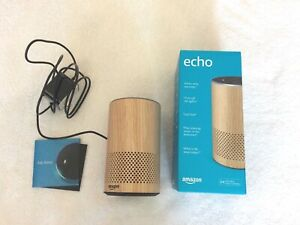 Amazon Echo (2nd Generation) Smart Assistant - Oak Finish