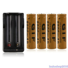 4pcs 18650 3.7V 9900mAh Rechargeable Li-ion Batteries with Charger Lithium Liion