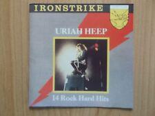 URIAH HEEP CD: 14 ROCK HARD HITS/IRONSTRIKE (AVANTI ISTCD 002)