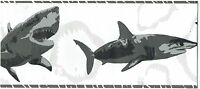 HAMMERHEAD MAKO SHORTFIN AND GREAT WHITE SHARK Wallpaper bordeR Wall decor