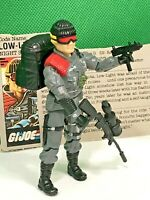 Vintage GI Joe Low-Light 1986 NEAR COMPLETE WITH FILE CARD action figure ARAH