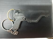 VINTAGE RARE Pewter Key chain in a holster GUN USSR