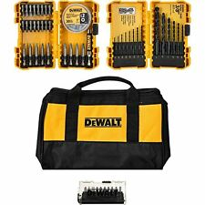 New DEWALT 80-Piece Drill Drive Utility Bit Set w/ Contractor Bag - DWA2LOBAG80