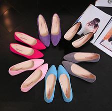 Women Ladies Flat Shoe Pumps Ballet Dolly Casual Ballerina Slip On Shoes Size