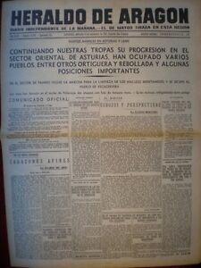 PERIÓDICO GUERRA CIVIL 22 SEPTIEMBRE 1937 BATALLA ASTURIAS TOMA ORTIGUERA