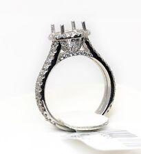 1.16 Ct Diamond 14k White Gold Semi Mount Engagement Ring for 1-1.5 Ct Round