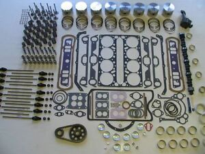 Deluxe Engine Rebuild Kit 1958 Pontiac 370 TriPower NEW Pistons Camshaft Lifters