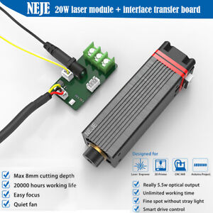 NEJE 20W Blue Laser Head Module FOR CNC engraving machine engraver cutter DIY