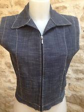 ZORA haut gilet debardeur jean coton polyester bleu Taille 16 ans