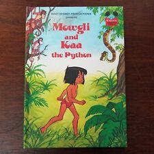 Disney Wonderful World of Reading 1981 Mowgli & Kaa The Python Hardcover