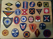 WWII and later US  Patch Lot Grouping