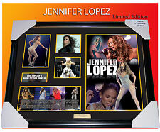 JENNIFER LOPEZ MUSIC MEMORABILIA SIGNED FRAMED LIMITED EDITION 499 C.O.A