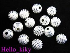 100Pcs Silver plate screw stardust spacer beads 8mm M215