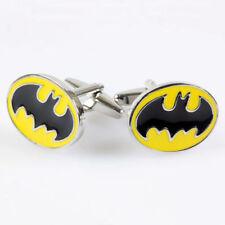 BAT MAN Black on Yellow Batman Logo  Cufflinks NEW in BOX  14795