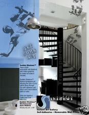 "Skateboard Boys Kids Room Sports Wall Art Decal Gray Vinyl Sticker 47"" x 25"""