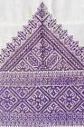 SUPERB ANTIQUE MOROCCAN FEZ SILK EMBROIDERY PURPLE TAPESTRY. EXCELLENT!