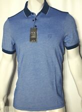 Armani Exchange men's size medium polo color block  modern slim blue