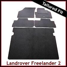 Land Rover Freelander Mk2 2006-2014 Tailored Carpet Car Floor & Boot Mats BLACK
