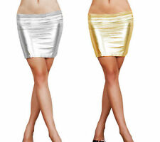 Faux Leather Solid Mini Skirts for Women