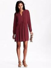 Old Navy Women's Berry Long Sleeve Pintuck Shift Dress Size S