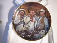 THREE 3 STOOGES COLLECTORS PLATE DR HOWARD DR FINE DR HOWARD  FRANKLIN MINT CERT