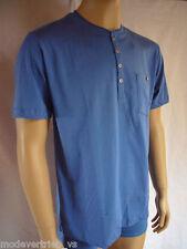 Unifarbene Herren-T-Shirts Knopfleiste aus Baumwolle