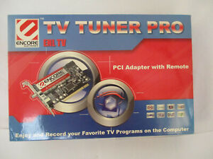 New Encore Electronics TV Tuner Pro ENL TV PCI Adapter With Remote